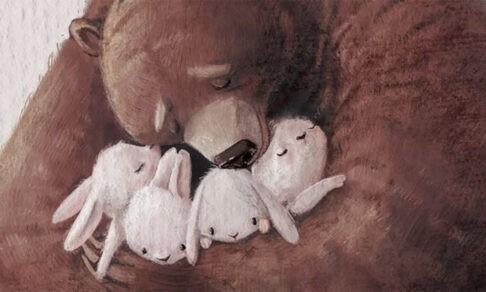Пышечки, кошки и обнимательный медведь. Трогательные картинки о детстве