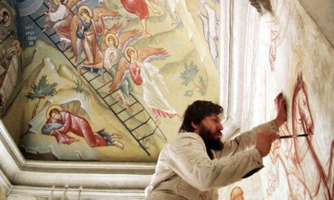 Закрасили «Изгнание из рая». В царицынском храме уничтожили фрески знаменитого Александра Соколова