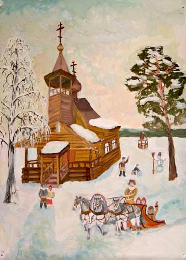 Детские рисунки Рождества