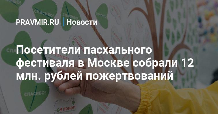 Посетители пасхального фестиваля в Москве собрали 12 млн. рублей пожертвований